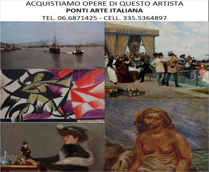 Ponti - Vendita di opere del pittore Achille Formis, stime e valutazioni